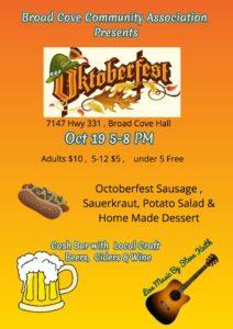Oktoberfest @ Broad Cove Hall